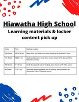 HHS Learning Materials Pick Up