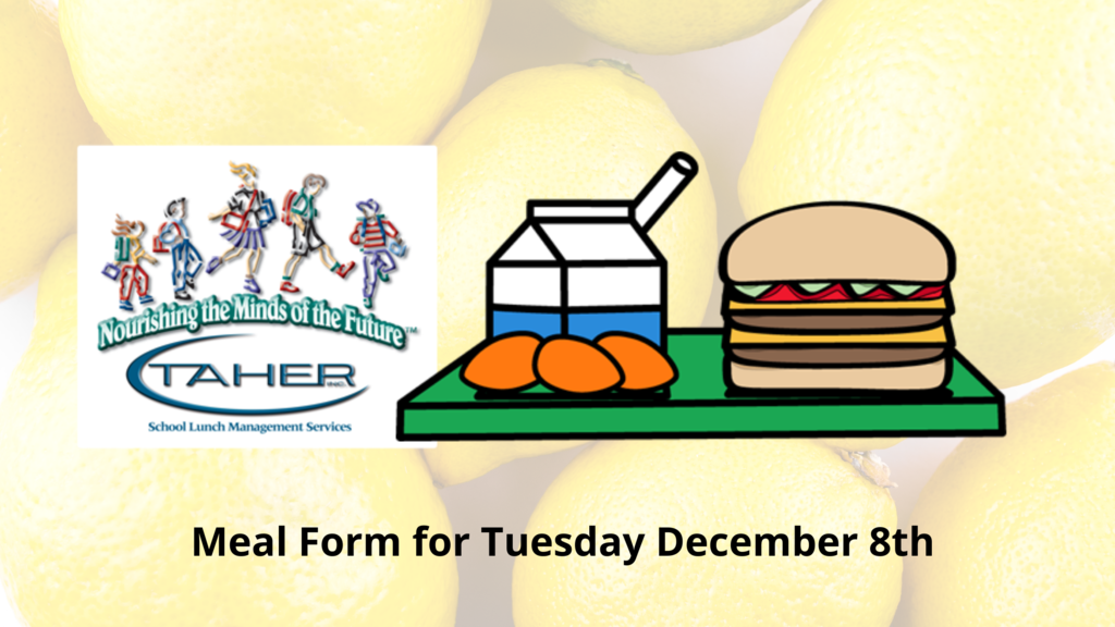 Dec 8th Meal Form