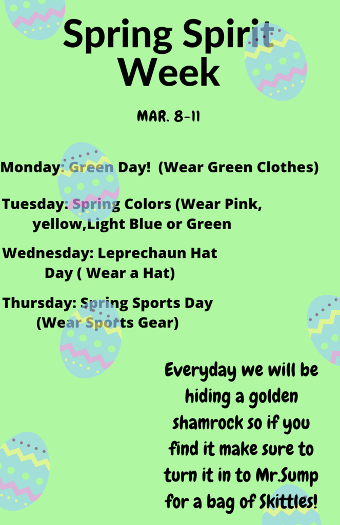 HMS Stuco Spring Spirit Week
