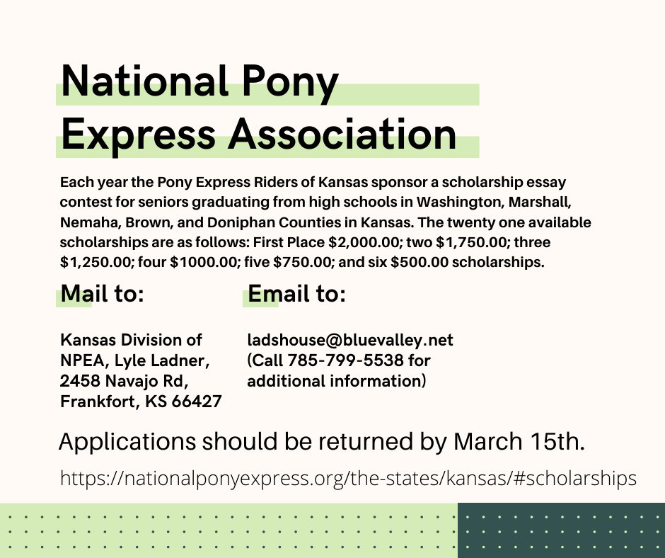 National Pony Express Association Scholarship