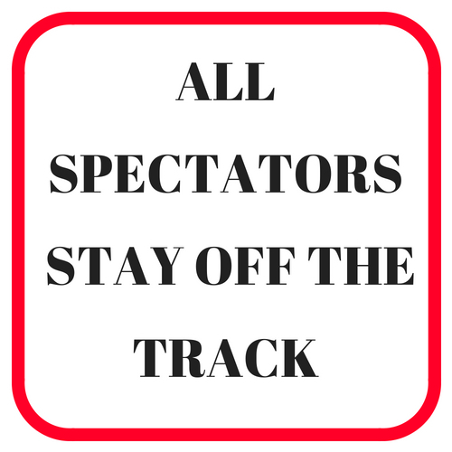 Stay of the track sign