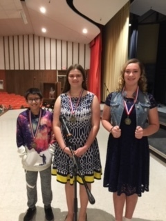 Students that placed in the spelling bee.