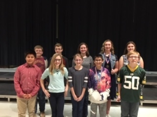 Hiawatha middle school contestants