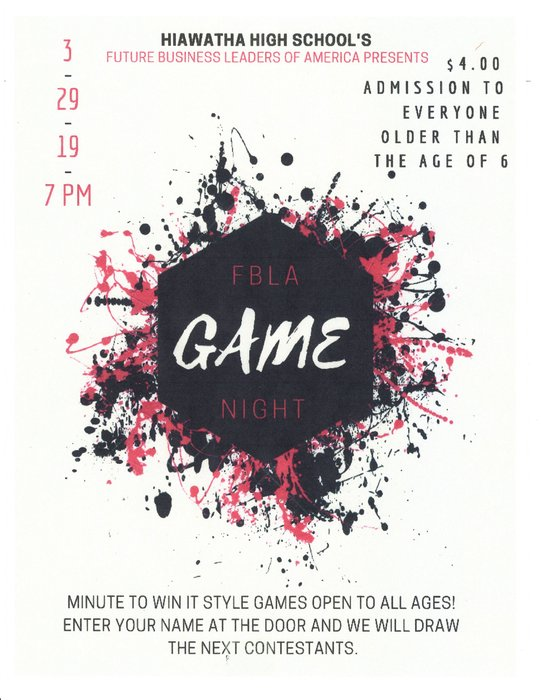 FBLA Game Night Flyer