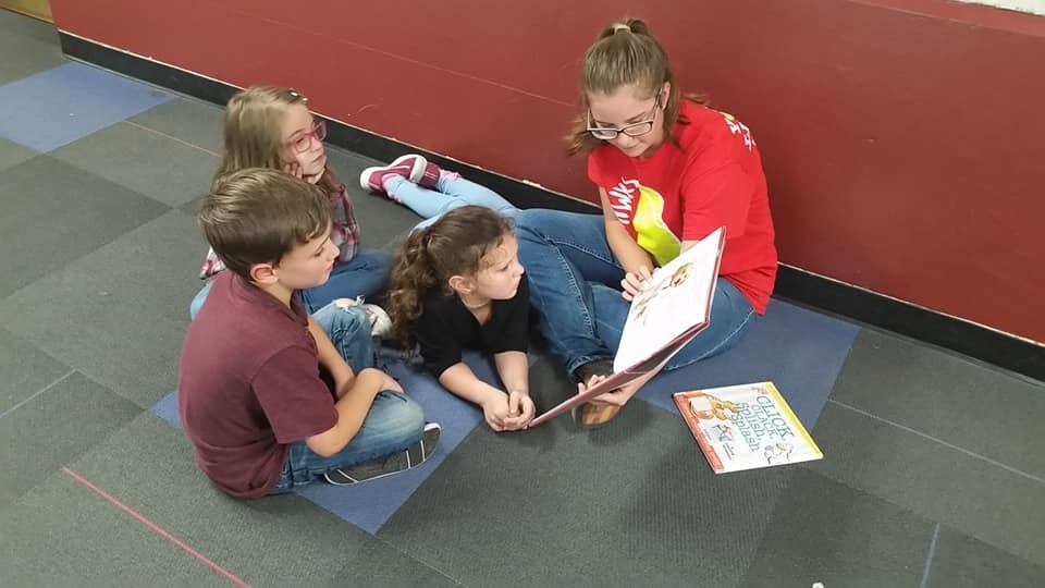 Reading with Red Hawks