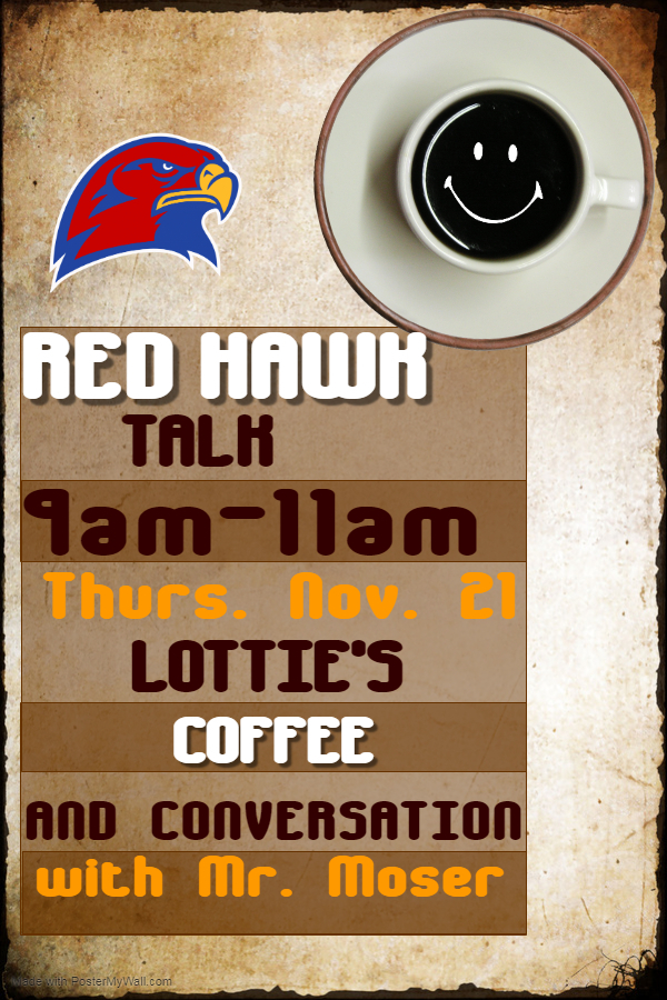 Red Hawk Talk Flyer