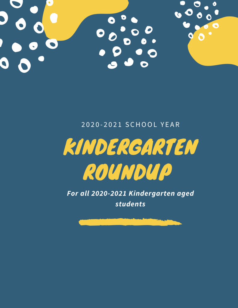 Kindergarten Round Up flyer