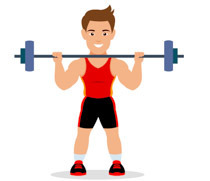 boy weightlifter